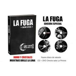 LA FUGA PACK HUMO Y CRTISTALES (nuevo disco) + DVD y CD Directo sala La Riviera de Madrid